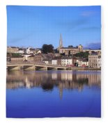 New Ross, Co Wexford, Ireland Fleece Blanket