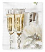 New Year Champagne Fleece Blanket