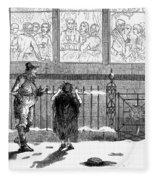 New Years Eve, 1859 Fleece Blanket