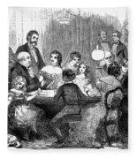 New Years Party, 1857 Fleece Blanket
