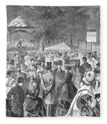 New York: Bandstand, 1869 Fleece Blanket