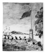 New York: Battery, 1793 Fleece Blanket