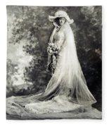 New York: Bride, 1920 Fleece Blanket