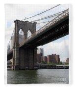 New York Bridges 1- Brooklyn Bridge Fleece Blanket