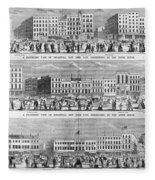 New York: Broadway, 1851 Fleece Blanket