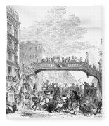New York: Broadway, 1852 Fleece Blanket