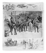 New York: Camp Wikoff, 1898 Fleece Blanket