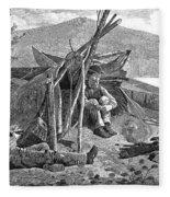 New York: Camping, 1874 Fleece Blanket