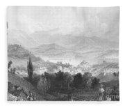 New York: Catskills, 1839 Fleece Blanket