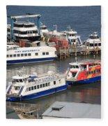 New York City Sightseeing Boats Fleece Blanket