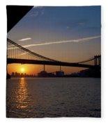 New York City Sunrise Fleece Blanket