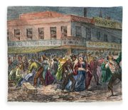 New York: Draft Riots 1863 Fleece Blanket