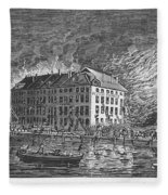 New York: Fire Of 1835 Fleece Blanket