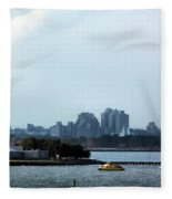 New York Harbor Fleece Blanket