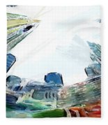 New York Looking Up The Sky Fleece Blanket