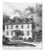 New York Mansion, 1748 Fleece Blanket