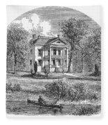New York: Mansion, 1760 Fleece Blanket