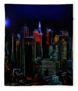 New York Midnight Fleece Blanket