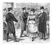 New York Police Raid, 1875 Fleece Blanket
