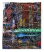 New York Street Fleece Blanket