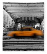 New York Taxi 1 Fleece Blanket