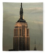 New York Watercolor 1 Fleece Blanket