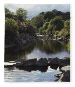 Newcastle, Shimna River, Co Down Fleece Blanket
