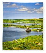 Newfoundland Landscape Fleece Blanket