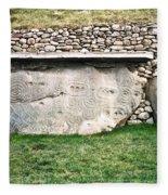 Newgrange Runes Fleece Blanket