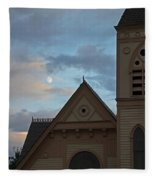 Newman United Methodist And Moon Fleece Blanket