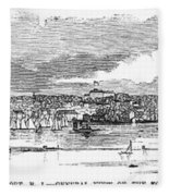 Newport, 1853 Fleece Blanket