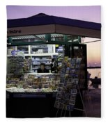 Newsstand In Croatia Fleece Blanket