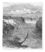 Niagara Falls, 1849 Fleece Blanket