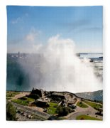 Niagara Falls From Above Fleece Blanket