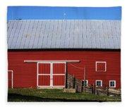 Nice Red Barn Fleece Blanket