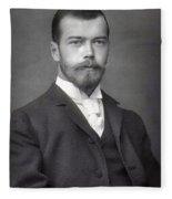 Nicholas II From Russia Fleece Blanket