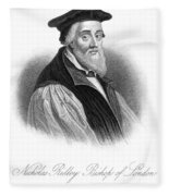 Nicholas Ridley (1500-1555) Fleece Blanket