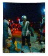 Night At The Roller Derby Fleece Blanket