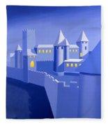 Night Castle Fleece Blanket