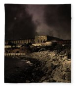 Nightfall Over Hard Time - San Quentin California State Prison - 5d18454 - Partial Sepia Fleece Blanket