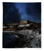 Nightfall Over Hard Time - San Quentin California State Prison - 5d18454 Fleece Blanket