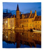 Nighttime Brugge Fleece Blanket
