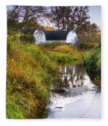 Nisqually Wildlife Refuge P21 The Twin Barns Fleece Blanket