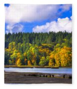 Nisqually Wildlife Refuge P24 Fleece Blanket