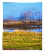 Nisqually Wildlife Refuge P5 Fleece Blanket