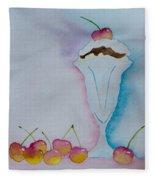 No Ordinary Cherry Fleece Blanket