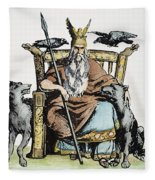 Norse God Odin (woden) Fleece Blanket