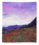 North Canol Road Near Macmillian Pass Fleece Blanket