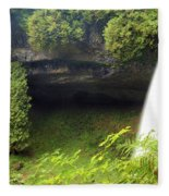 North Falls At Silver Falls Fleece Blanket