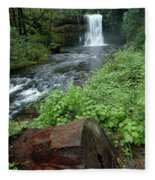 North Falls In Oregon Fleece Blanket